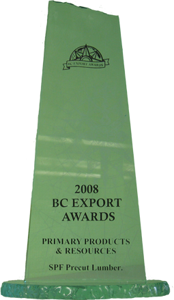 BC Export Awards Trophy